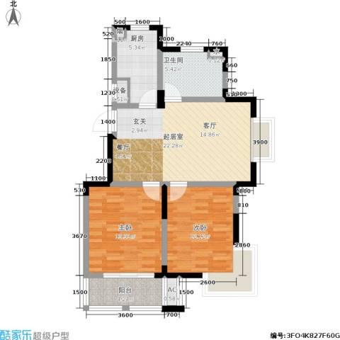 国信・阅景龙华2室0厅1卫1厨117.00㎡户型图