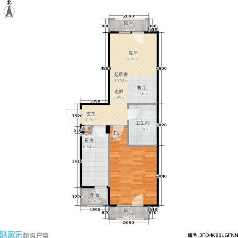 中海英伦观邸1室0厅1卫1厨56.00㎡户型图