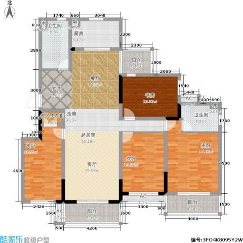 国信・阅景龙华4室0厅2卫1厨179.00㎡户型图