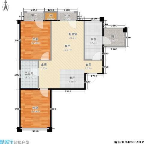 中海英伦观邸2室0厅1卫1厨81.00㎡户型图