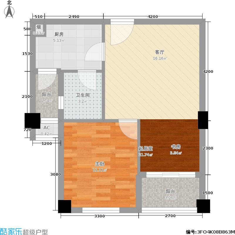 金荣公寓68.00㎡K1户型