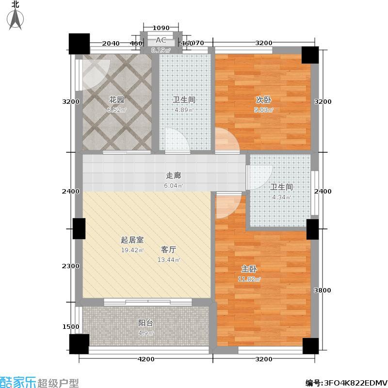 金荣公寓88.96㎡K3户型