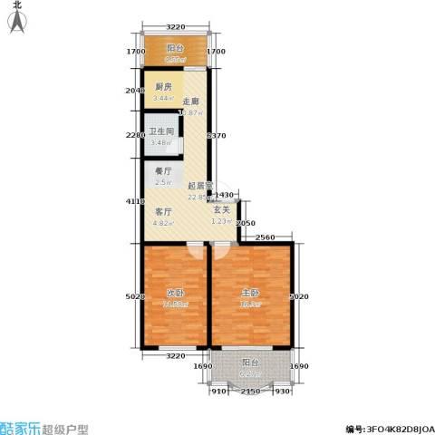 云峰花园2室0厅1卫0厨79.00㎡户型图