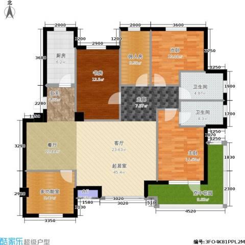 长鹭・晶品缘林3室0厅2卫1厨130.00㎡户型图