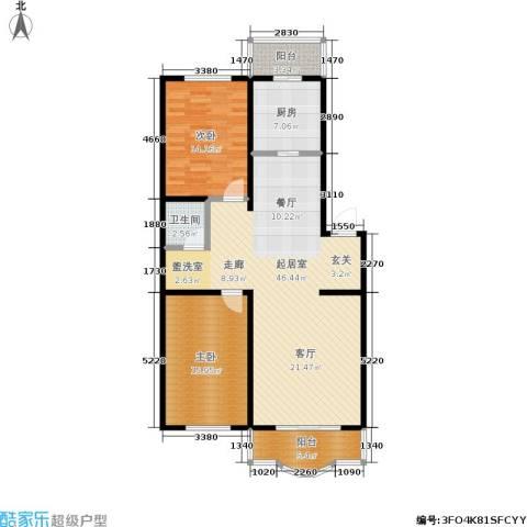 云峰花园2室0厅1卫1厨106.00㎡户型图