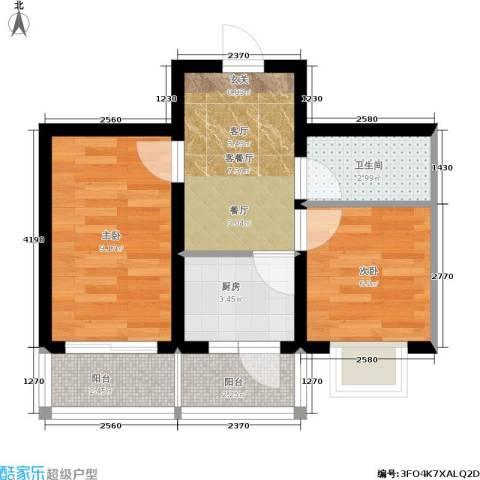 禹舜嘉园2室1厅1卫1厨51.00㎡户型图