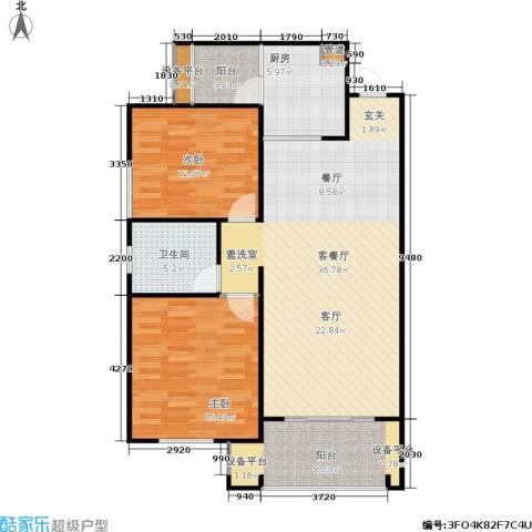 欧洲城2室1厅1卫1厨100.00㎡户型图