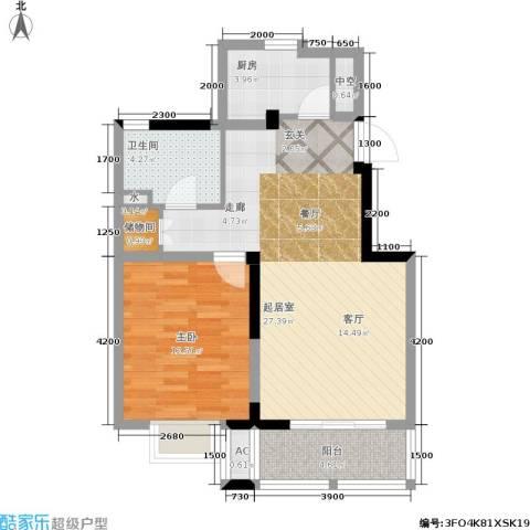 国信・阅景龙华1室0厅1卫1厨74.00㎡户型图