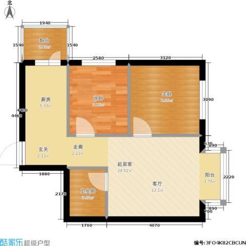 润成水云天2室0厅1卫0厨65.00㎡户型图