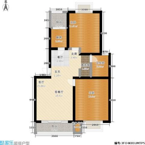 苏建艳阳居2室1厅1卫1厨86.00㎡户型图