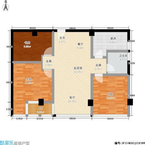 金港国际城3室0厅1卫1厨118.00㎡户型图