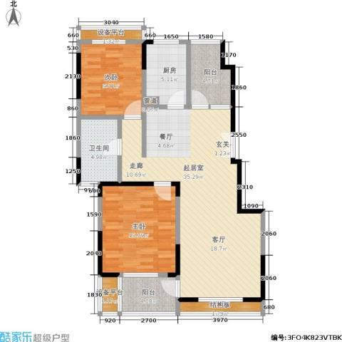 南山巴黎印象2室0厅1卫1厨118.00㎡户型图