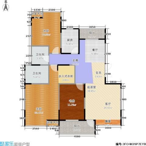 嘉业阳光城3室0厅2卫1厨112.64㎡户型图