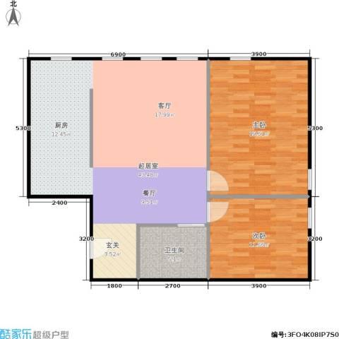 朗诗国际街区2室0厅1卫0厨89.00㎡户型图