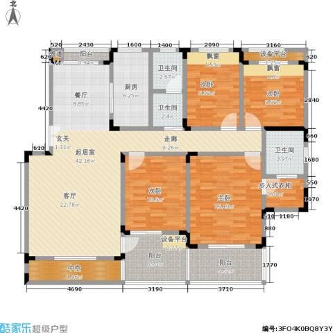 南山巴黎印象4室0厅3卫1厨170.00㎡户型图