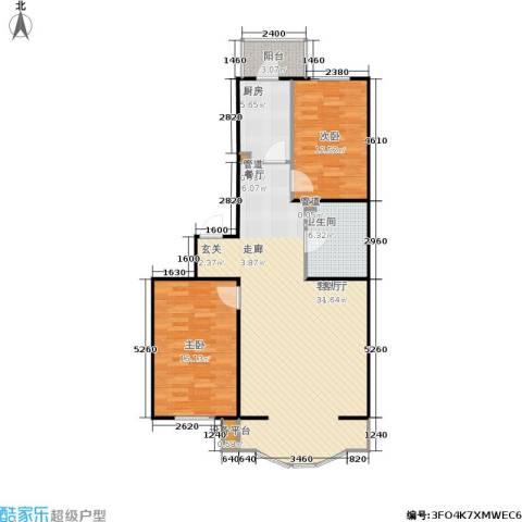 天玺人家2室1厅1卫1厨95.00㎡户型图