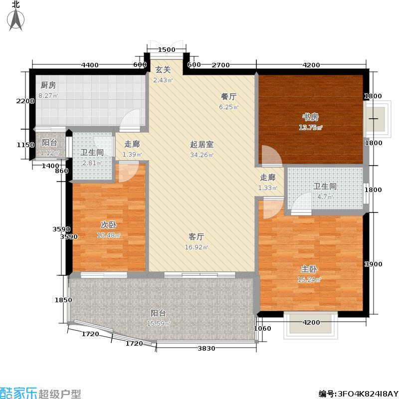 鑫隆达・金色家园104.00㎡房型户型
