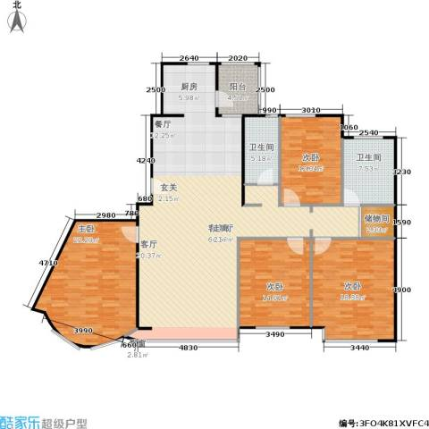 富雅豪临4室1厅2卫0厨182.00㎡户型图