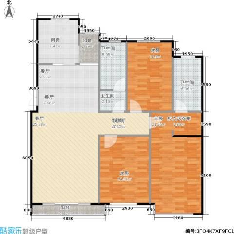 富雅豪临3室1厅3卫1厨122.00㎡户型图
