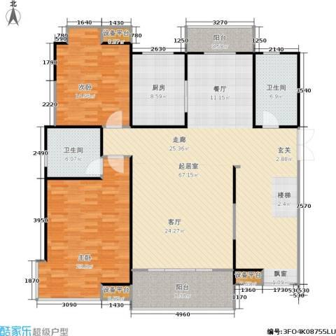嘉业阳光城2室0厅2卫1厨151.00㎡户型图