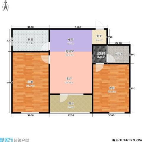 朗诗国际街区2室0厅1卫1厨83.34㎡户型图