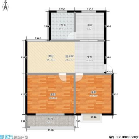 经典雅居二期2室0厅1卫1厨86.00㎡户型图