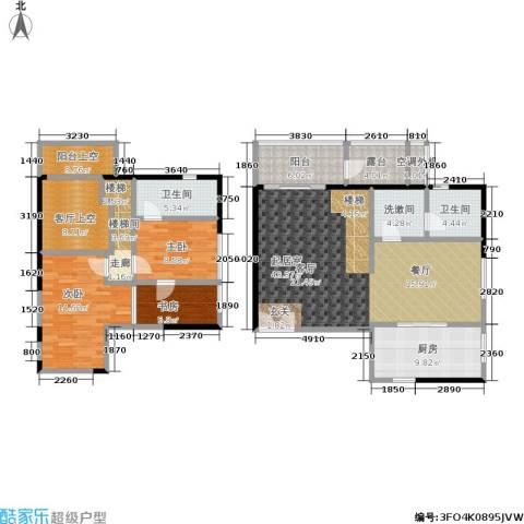 锦尚LOFT3室0厅2卫1厨126.00㎡户型图