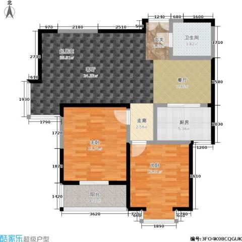 锦尚LOFT2室0厅1卫1厨85.00㎡户型图