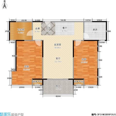 嘉业阳光城2室0厅1卫1厨103.37㎡户型图
