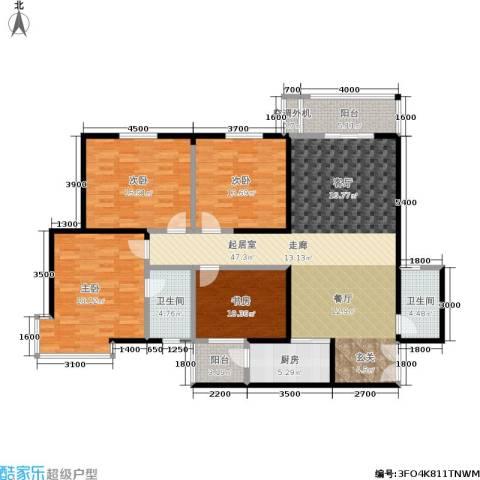 锦尚LOFT4室0厅2卫1厨147.00㎡户型图