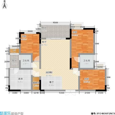 水木青华・小小岛 小小岛 水木青华3室0厅2卫1厨101.00㎡户型图
