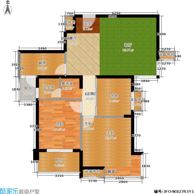亚东国际公寓89.00㎡8932m2户型