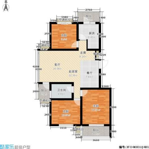 天地新城3室0厅1卫1厨114.00㎡户型图