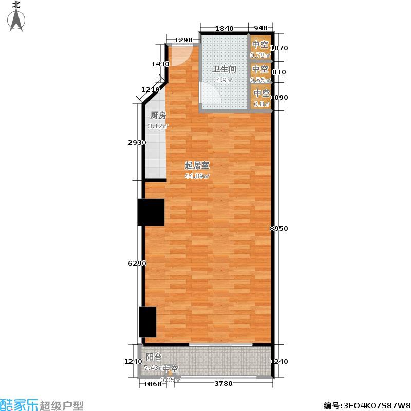 腾盈大厦62.83㎡2-23层18单位户型
