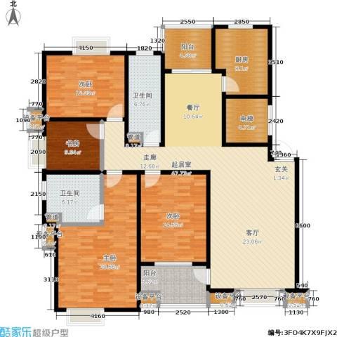 星湖客4室0厅2卫1厨160.00㎡户型图