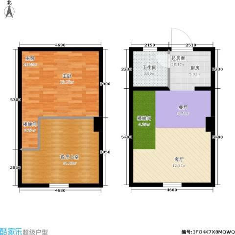 北城新天地1室0厅1卫0厨64.37㎡户型图