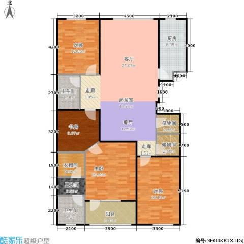 朗诗国际街区4室0厅2卫1厨132.89㎡户型图