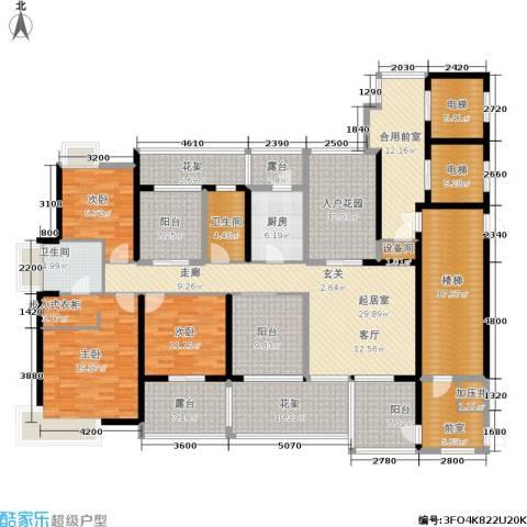 九鼎国际城公寓3室0厅2卫1厨196.73㎡户型图