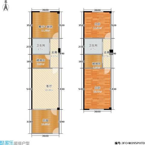 南山西花厅2室1厅2卫0厨96.23㎡户型图