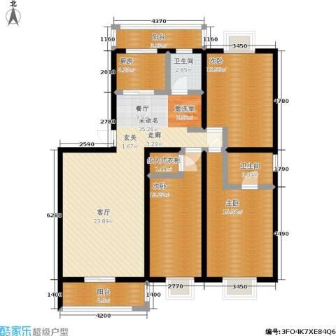 苏建艳阳居3室0厅2卫1厨97.19㎡户型图