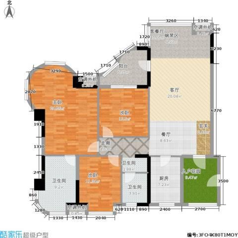 南海颐景园3室1厅2卫1厨168.00㎡户型图