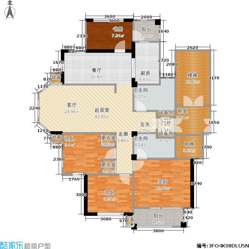 中义阿卡迪亚住宅小区190.00㎡户型