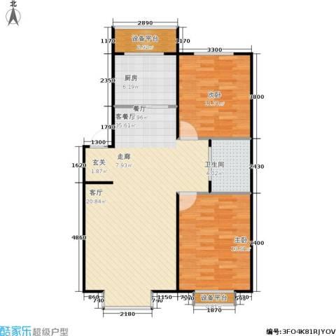 青阳四季园2室1厅1卫1厨82.00㎡户型图