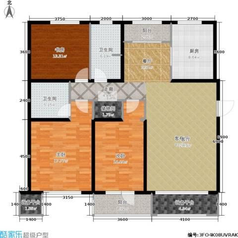 万科城三期一区3室1厅2卫1厨168.00㎡户型图