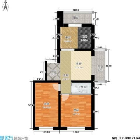 如意名苑2室2厅1卫0厨75.00㎡户型图
