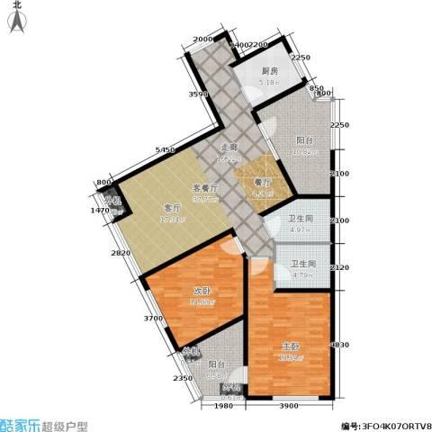 万科城三期一区2室1厅2卫1厨145.00㎡户型图