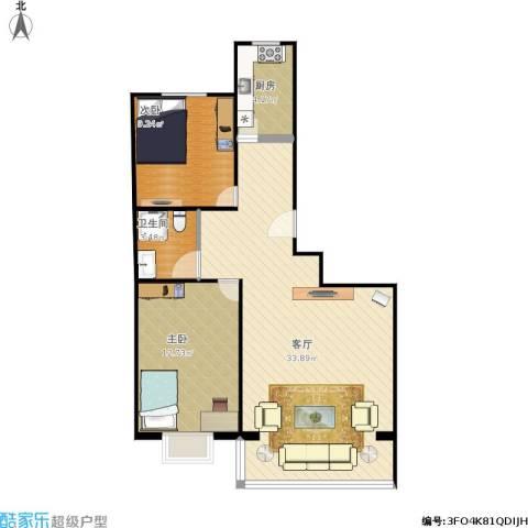 顶秀美泉小镇2室1厅1卫1厨85.00㎡户型图
