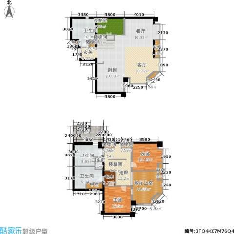 杰特公寓3室0厅4卫0厨180.00㎡户型图