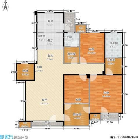 中海英伦观邸3室0厅2卫1厨135.00㎡户型图