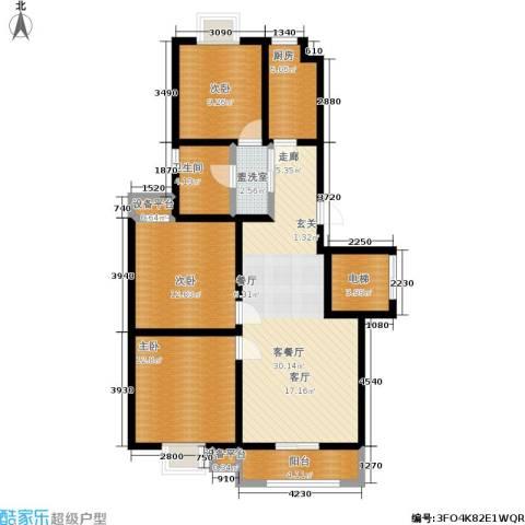 苏建艳阳居3室1厅1卫1厨97.00㎡户型图